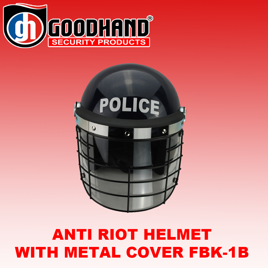 ANTI RIOT HELMET WITH METAL COVER FBK-1B